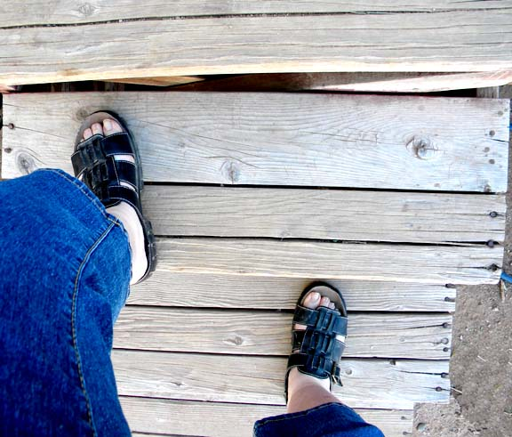 Me in sandals!!