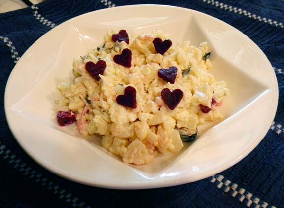 Faux-tato Salad with Heart Beets