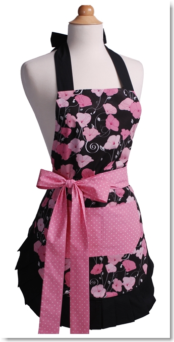 Flirty Aprons Women's Apron Original Midnight Bloom
