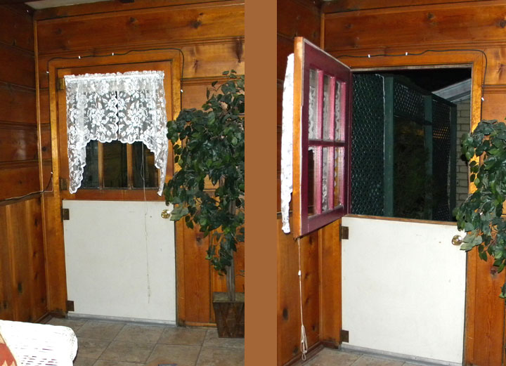 Doorway out to little private patio area