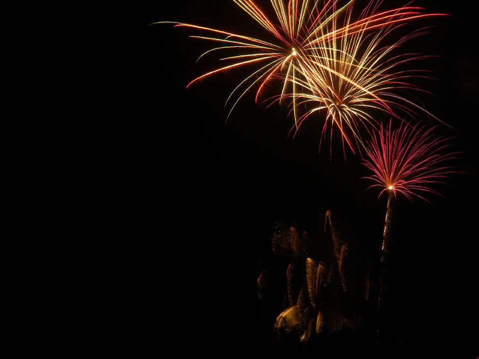 Fireworks from Ahwatukee Country Club in Phoenix, Arizona