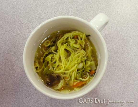 Spiralized Zucchini Soup