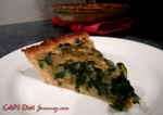 Slice of Chard and Onion Quiche