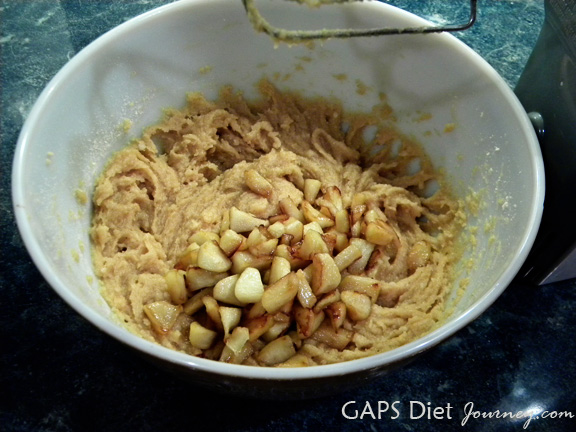 Cookie Batter with Diced Apples