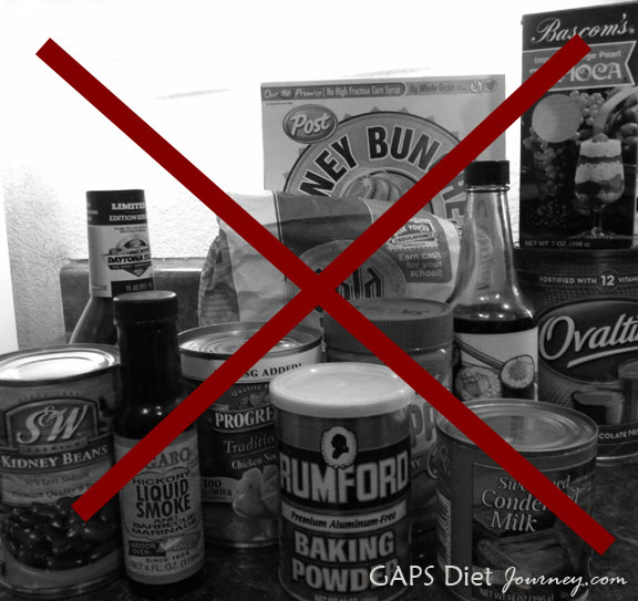 Foods not allowed on GAPS