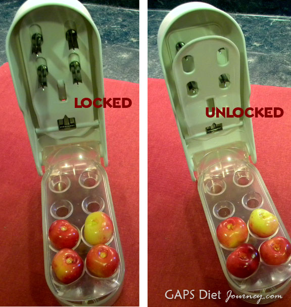 Cherry Pitter Locked and Unlocked