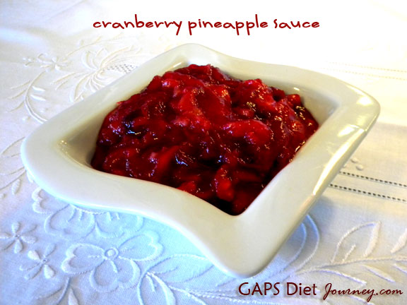 Cranberry Pineapple Sauce