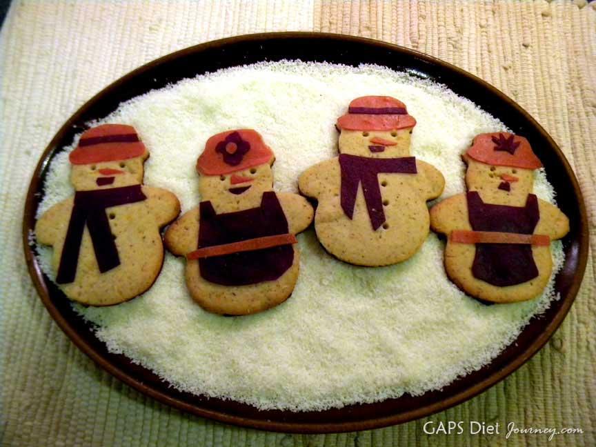 Grain-free Snowman Cookies