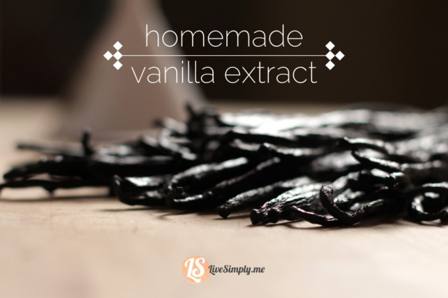 Homemade Vanilla Extract from Live Simply