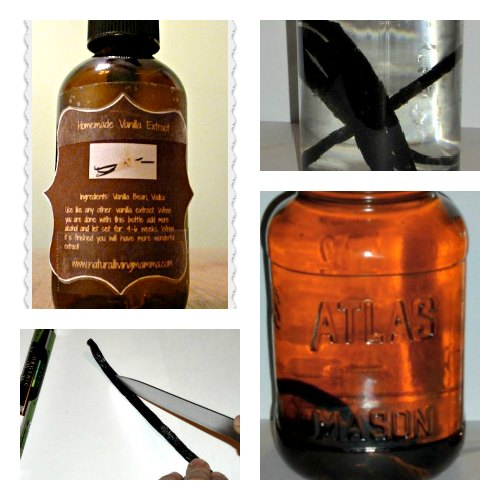 Homemade Vanilla Extract from Natural Living Mamma