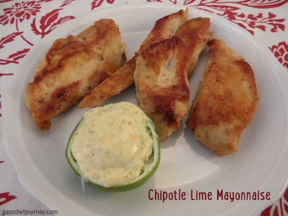 Chipotle Lime Mayonnaise with Butter Fried Chicken