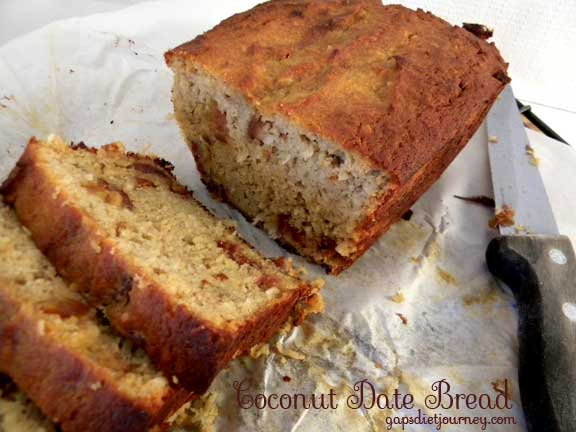 Coconut Date Bread