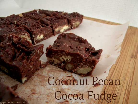 Coconut Pecan Cocoa Fudge