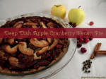 Deep Dish Apple Cranberry Pecan Pie