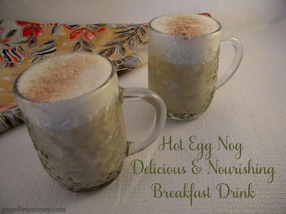 Hot Eggnog Breakfast Drink