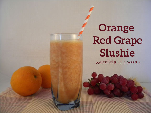 Orange Red Grape Slushie