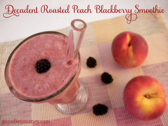 Decadent Roasted Peach Blackberry Smoothie