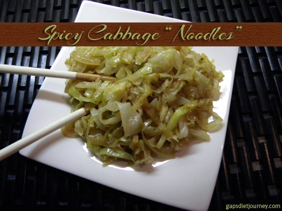 "Spicy Cabbage ""Noodles"""