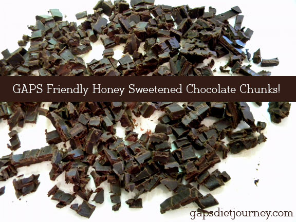 Simple Honey-Sweetened Chocolate (and GAPS Chocolate Chips!)