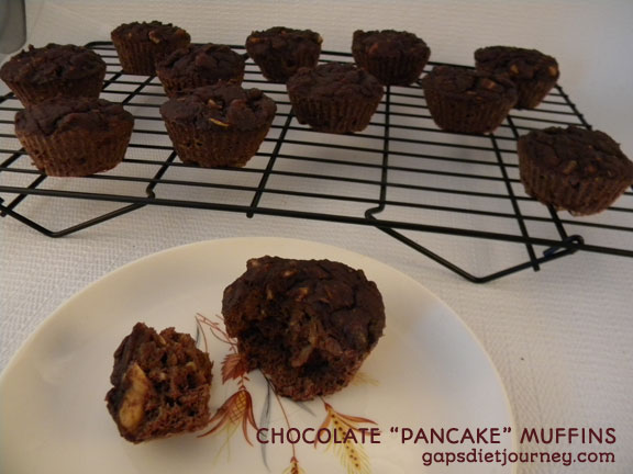 Chocolate Pancake Muffins