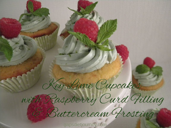 Key Lime Cupcakes with Raspberry Curd Filling