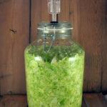 Sauerkraut in Fido Jar with Probiotic Jar Lid