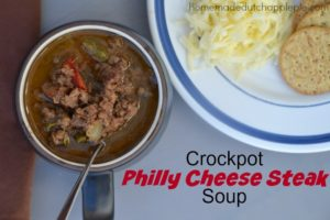 Crockpot Philly Cheese Steak Soup from Just Take a Bite