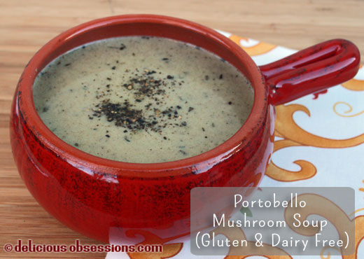 Delicious Obsessions Cream of Portobello Mushroom Soup