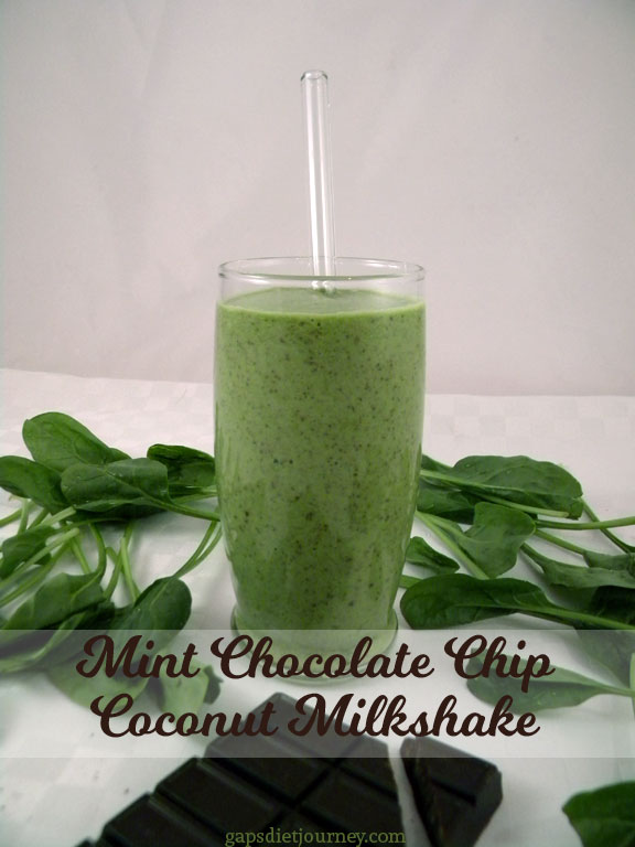 Mint Chocolate Chip Coconut Milkshare